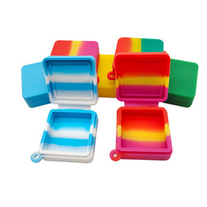 9ml Nonstick Wax Containers Block Shape silicone container food grade jars dab tool storage jar holder DHL Free