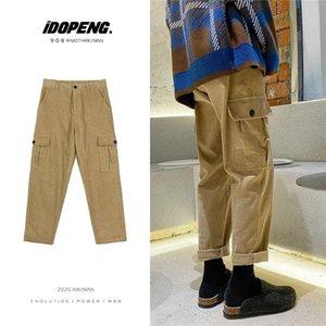 Winter Thickened Corduroy Pants Men's Fashion Retro Cotton Cargo Pants Men Streetwear Loose Hip-hop Straight Trousers Mens M-2XL
