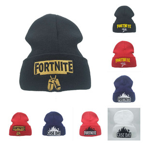 Anime e E-sports fortress night woolen fortnite embroidered knitted thermal Pullover hip-hop hat