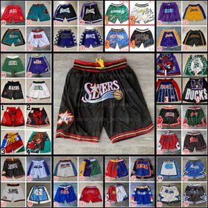 2021 NOUVEAU Just Mitchell Ness Don Impressé Basketball Pocket Shorts authentiques Pantalones Supersonic Retro Pocket Shorts XX1