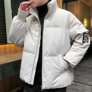 Winter Men's Quality Parka Stand Collar Zipper Thicken Warm Wind Proof Large Size Casual Fashion Male Cotton Coat