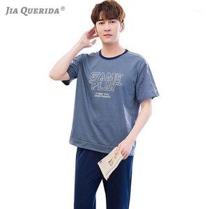 Pajamas Coton Hommes Pantalons longs Shorts à manches courtes rondes Pijamas Plus Taille XXL XXXL PLUS Taille Mode Sportif Home Vêtements Men1