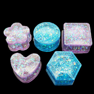 DIY Epoxy Resin Silicone Molds Crystal Drop Glue Round Heart Shaped Hexagon Stripe Storage Box Mould Square Hot Sale 33 8qz M2