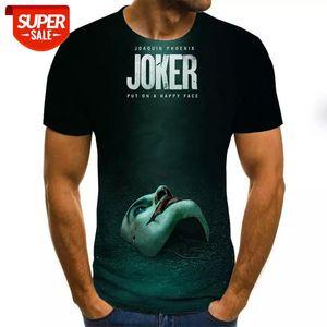 2020 Hot Sale Clown T Shirt Men women Joker Face 3D Printed Terror Fashion T-shirts size XXS-6XL #C80l