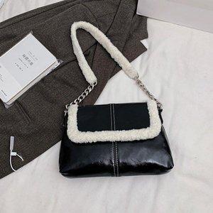 2021 new winter mini handbag women fashion super fire retro chain shoulder strap messenger bag purse simple style shoulder bag