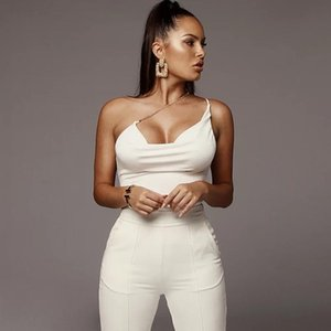 2020 Sexy Women Bodysuit Solid V Neck Bodycon Rompers Womens Bodysuit Backless Hollow Out Solid Casual Jumpsuit