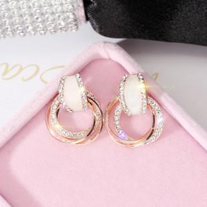 Атмосфера Алмазные Серьги Серьги Женщины Темперамент Серьги Простая Личность Женские Серьги Мода Ювелирные Изделия