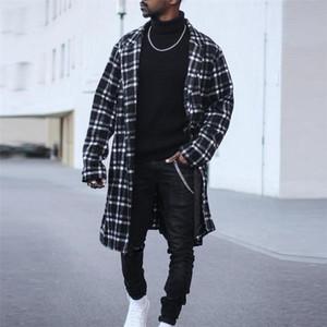 Дизайнерские мужские пальто Британский стиль отворота шеи с длинным рукавом свободные пальто, повседневный сплошной цвет человека верхняя одежда