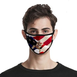 Waschbare Seidengesicht Amerikanische Mode 3D KOSTENLOS Für Maske Tag Und Universal Ftudpfz Männer Frauen Gedruckt Eis Stoff Staubdicht Mas Fahnen Independing ilpd