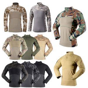 Outdoor Woodland Jagd Schießen US Battle Kleid Uniform Taktische BDU Army Combat Bekleidung Camo Shirt Camouflage T-Shirt P05-013