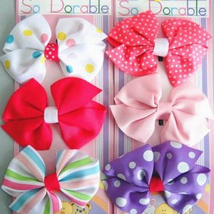 Clearance sale Baby Hair Accessories Girl Hair Clips Childrens Things Kids Hair Slides Barrettes Toddler Bows Z82