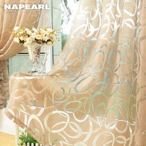Wholesale diseño moderno de la ventana de la ventana de jacquard para las cortinas del hogar Tratamientos de la sala de estar en ciegas de lujo hecho a medida tejidos semi-puro