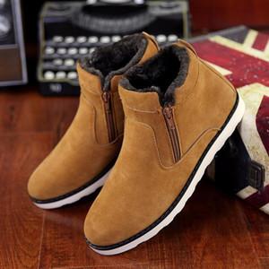 ankle boots zip women shoes cheap snow boots big size 6-15 solid rubber warm shoe black brown blue booties ui90