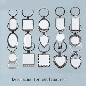 Metal Hardboard Keychains Small Bottle Opener Blank Rectangle Keychains Sublimation Heat Transfer Multifunction Keychain Gift Kimter-C11FZ