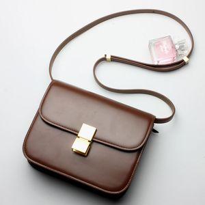 Hot Designer Women Bags 100% Genuine Leather Women Shoulder Messenger Bags Classic Ladies Box Bag Simple Handbags Sac Mlle