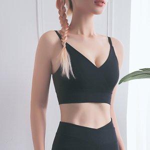 New Hollow Back Shockproof Sports Underwear Autumn Quick Drying Fitness Running Yoga Vest Women's Bra