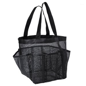Portable Mesh Coll1 Caddy, 9 Dry & Tote Shower Bath Handles Shower Organizer Bag Storage Hanging Pockets, Double Toiletry Quick Mkjeq