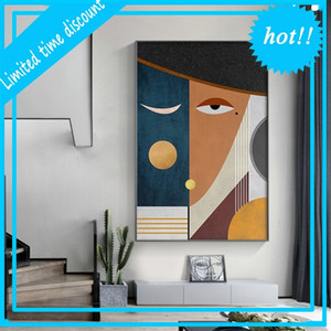 Modern Figure Abstract Geometric Canvas Painting Contemporary Art Poster Print Faces Wall Photo for Woonkamer Home Decor