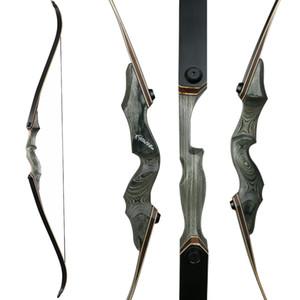 Venta caliente de 60 pulgadas de arco laminado arco tradicional longbow 30-50lbs Takedown Recurve Bow Arco arrow Caza de arco de madera