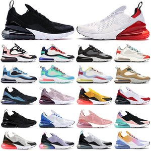 Neue max 270 react 270s Männer Laufschuhe Frauen Trainer Triple Red Washed Coral USA Summit White haben ein gutes Spiel Herren Outdoor-Sport-Sneakers