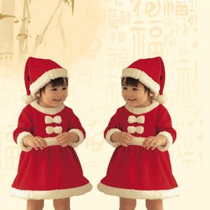 2020 New Fashion Christmas Kids Costume Set Boy And Girl Long Sleeve Santa Cosplay Toddler Cute Clothes Winter Hot Sale