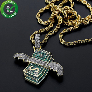 Iced Out Pendant Hip Hop Jewelry Luxury Designer Necklace Mens Gold Chain Pendants Diamond Pandora Style Charms Fashion Rapper Accessories