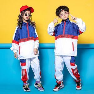Hip Hop Ballare costume per bambini Giacca per bambini Costume Bambini Hiphop Boy Performance Outfit Autunno Vestiti Abbigliamento Girls Stage Dress 32201