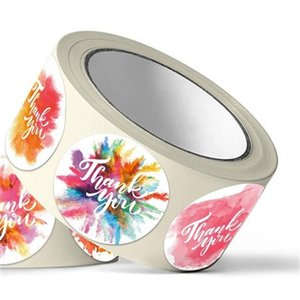 Çiçek Kendinden Yapışkanlı Teşekkürler Etiketler Mühür Etiket Zarf Sticker Iş Hediye Davetiyesi Şişe Dekore Çok Amaçlı Yeni 4sh D2