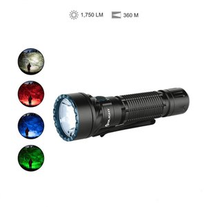 OLIGHT Freyr 1750 Lumens Multi-Color Tactical Flashlight Dual-Switch with Both White Light and RGB Lights for Night Vision Protection Traffi