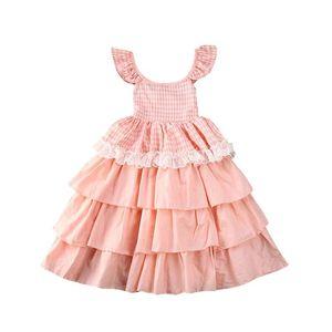 6m-5y Toddler Baby Kid Girls Dress Summer Lace Ruffles Tutu Party Birthday Wedding Dresses For Girls Children sqcnMb