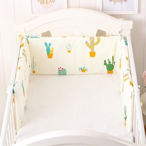 Cartoon Pattern Baby Bed Bumper Cot Bumper Cotton Pad for Baby One-piece Cushion for Baby Bed Crib Bumper Nursing 180*30cm Cheap 201204