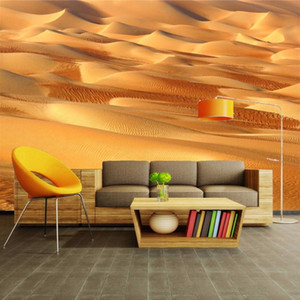 Custom Photo Wallpaper 3D Yellow Sand Desert Sofa TV Backdrop Wall Decorations Living Room Modern Wall Painting Mural Paper