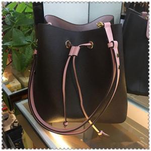 HH 여성 가방 고급 디자이너 핸드백 지갑 패션 패션 고품질 송아지 피부 중간 쇼핑백 정품 PU 가죽 버킷 가방 지갑