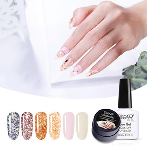 Elite99 6 pieces lot Nail Polish Set For Manicure 10ml Glitter Color UV Gel Polish Long Lasting Gel Lacquer Nail Art Varnish