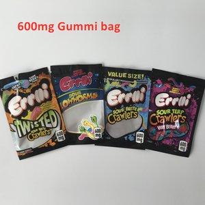 Errlli yenilebilir ambalaj mylar çantalar 600 mg 500mg gummies çanta ekşi terp tarayıcılar ekşi ısırıklar tarayıcılar errlli köpekbalıkları
