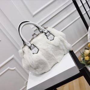 Factory wholesale women handbag winter new rabbit fur women handbag elegant atmosphere Mao Mao bag sweet Pearl decoration women chain bag