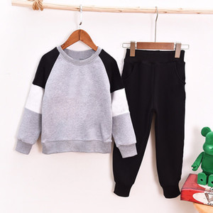 Baby Girl boy Kids cartoon sports Clothes set Hoodied Coat tops Pants 2pcs Sweatsuit baby Girl Spring Fall OutfitsTracksuit suit 64LJ