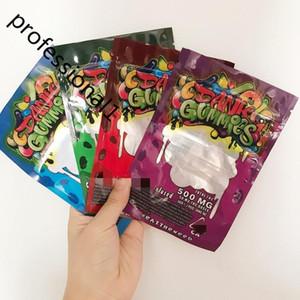 Embalaje Embalaje 500mg Dank Gummies Bolsos Bolsos Gusanos EDIBLES Osos Cubos Bolsas Gummanas al Por Mayor de Factory 2020
