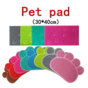 Haustier Hund Matte Pad Paw PVC Bett Geschirrplatzierungen Katze Wurfmatte Haustier Lebensmittel Wasserzufuhrplatz Platzierung Haustiere Teppich Haustier Zubehör Freies Verschiffen