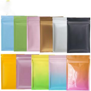 Multi Color Resellable Zip Mylar Bolsa Almacenamiento Aluminio Bolsas de papel de aluminio Bolsa de embalaje de plástico Olora de bolsas a prueba de olor