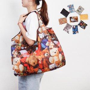Многоразовые сумки для покупок Складной Большой Размер Сумки Тяжелые Сумки Моющаяся Ткань Продовольственные Сумки Экологичные Ripstop