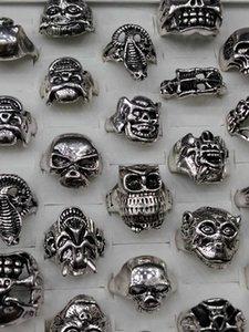 Factory1C75antique Scheletro Skeleton Hallowmas Skull Anello Vintage Mix Design Design