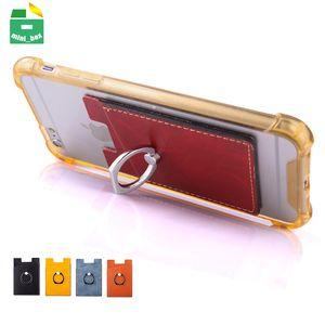 Multifunktions Handy Zurück Aufkleber Fingerring Halter Telefonständer Kartentasche Für iPhone Samsung Huawei Android Smartphone