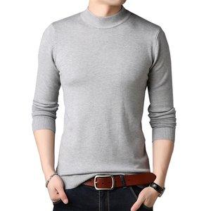 TFETTERS Men Brand Sweater Autumn slim Sweaters Men Casual Solid Color Turtelneck Sweater Youth Knitwear Plus Size M-4XL 201221