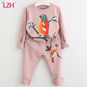 LZH Girls Clothing Sets Autumn Winter Toddler Girls Clothes Kids Tracksuit For Girl Suit Costumes Children Clothing 3 6 7 Year J1204