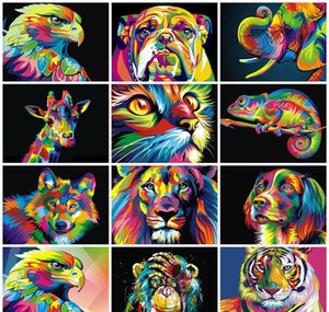 Adult Numbers Painting Paint Oil Animals Diy 50x40cm By Painted Wall Pictures Gift Coloring Decoration Hand Paints wmtFx pthome