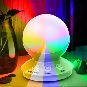 크리 에이 티브 크리스마스 RGB 음악 사운드 제어 밤 빛 침대 옆 조명 현장 분위기 등이 밤에 분위기를 증가
