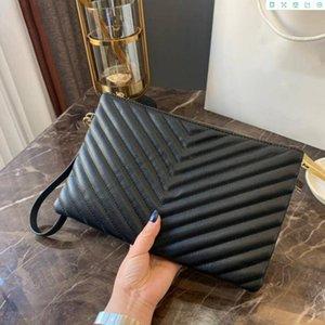 Big Brand Handbags Ladies Frizioni Pratiche Leather Ladies Retro Busta Borse Borse da sera Zipper Borse da sera Ladies Genuine Pelle Moda Personali