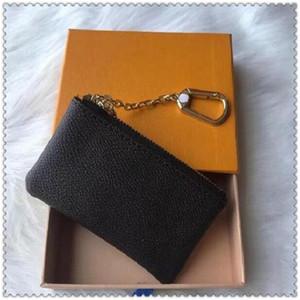 ZZ Alta Calidad Sin Caja 4 Color Clave Bolsa Cuero Holds Famoso Diseñador Clásico Mujer Tenedor de Llavero Monedero Monedero Pequeño Key Wallets