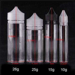Unicorn пустая бутылка 30 мл PE PE капельница бутылки E Жидкие пластиковые пустые E-жидкие бутылки формы ручки с длинными доказательными доступаными крышками масла DHL